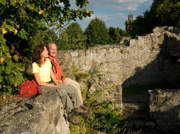 Grossansicht in neuem Fenster: Auf der Burgruine Brennberg