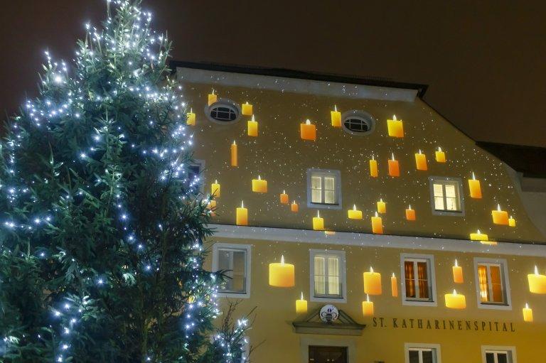 Grossansicht in neuem Fenster: Fassadenbeleuchtung St. Katharinenspital