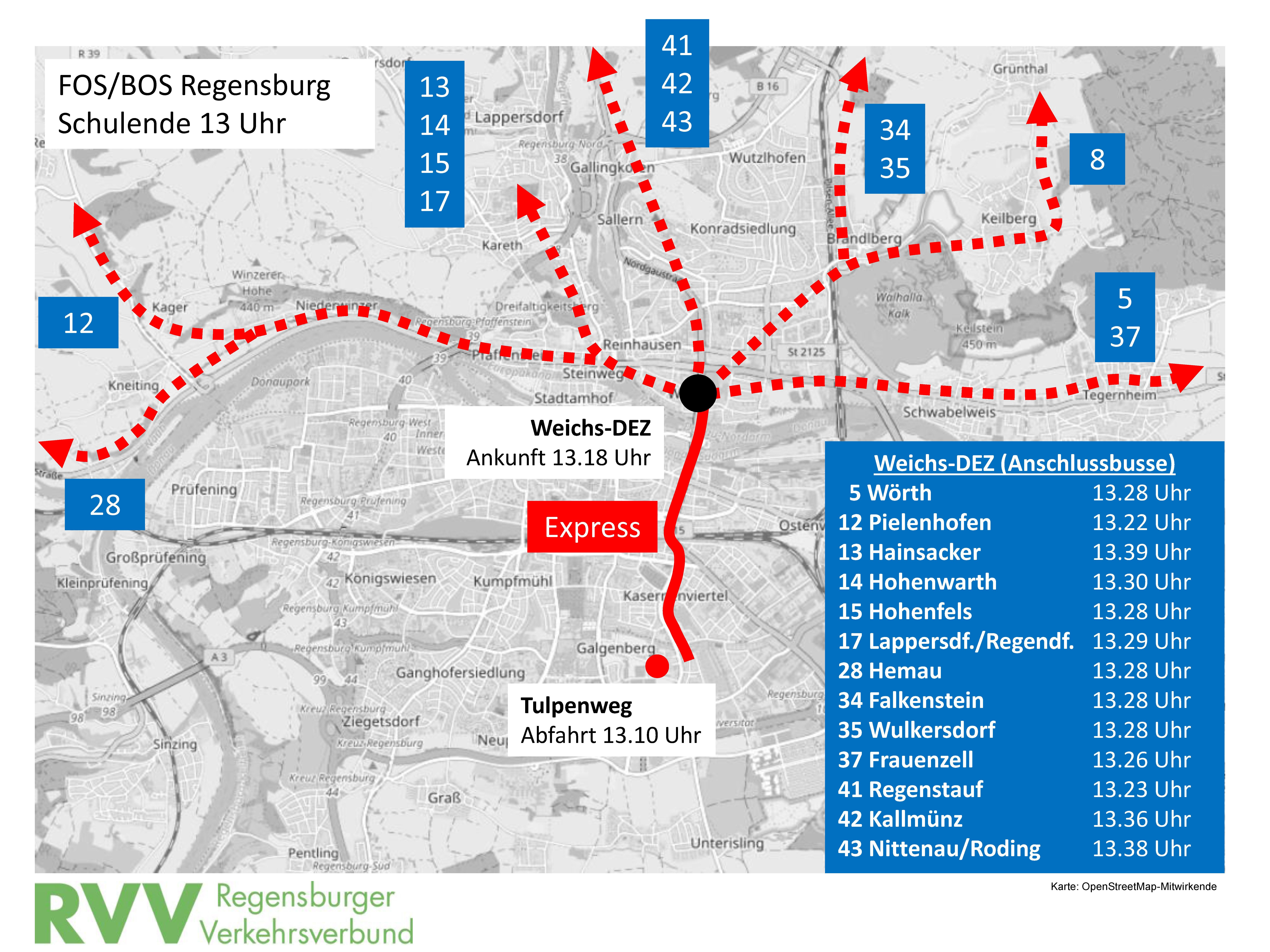 seit 2 mai neue expressbus verbindung f r sch ler der fos bos regensburg regensburger. Black Bedroom Furniture Sets. Home Design Ideas