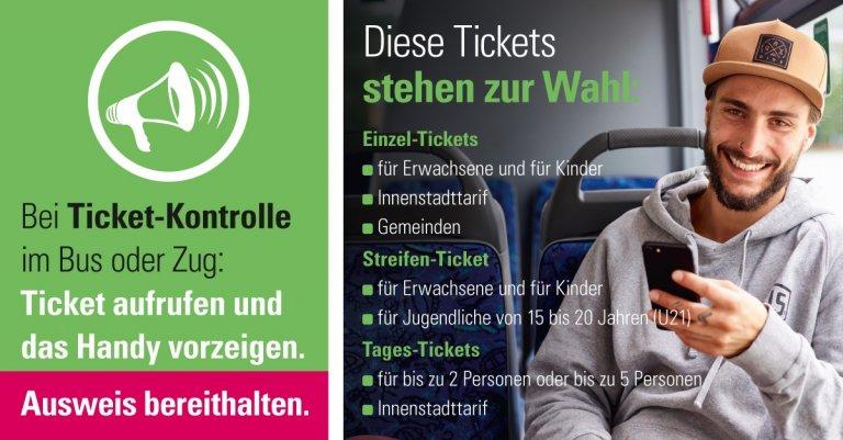 Einzel- und Tages-Tickets sind im Shop erhältlich. Bei der Ticket-Kontrolle bitte Ihren Ausweis bereithalten.