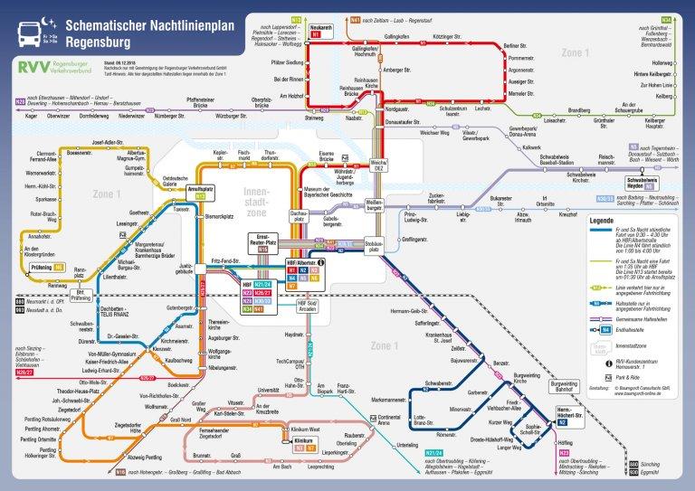 Nachtbus-Liniennetz