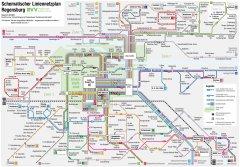 Karte Regensburg Altstadt.Liniennetz Regensburger Verkehrsverbund