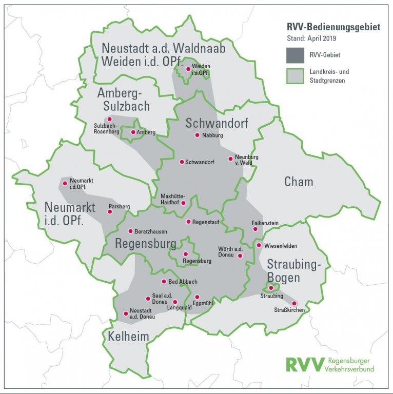 Karte RVV-Gebiet ab 1.4.2019