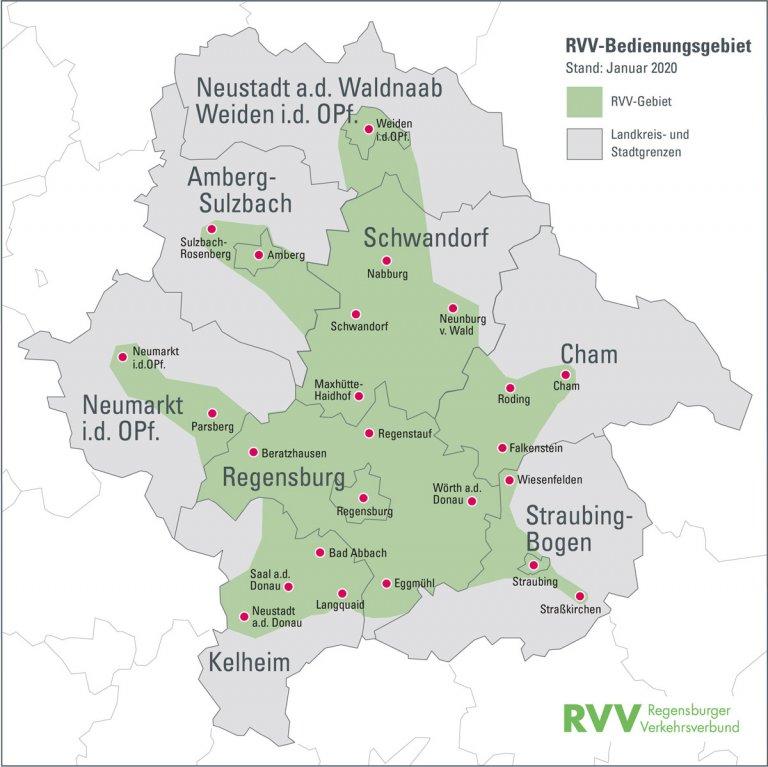 Karte RVV-Gebiet ab 01.01.2020