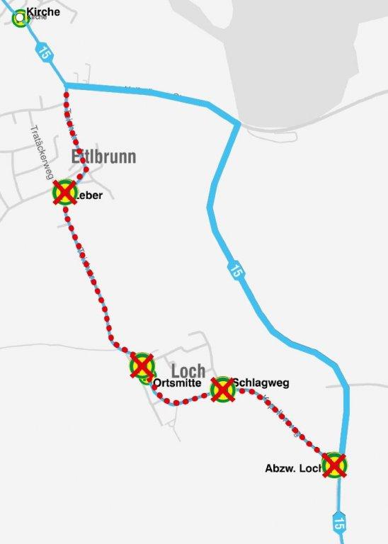 200201_Karte Linie 15_Loch_Umleitung