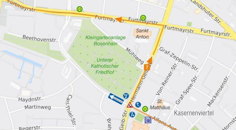 2020-06-02_bis_2020-06-12_Karte Uml Linie 7_stadteinwärts