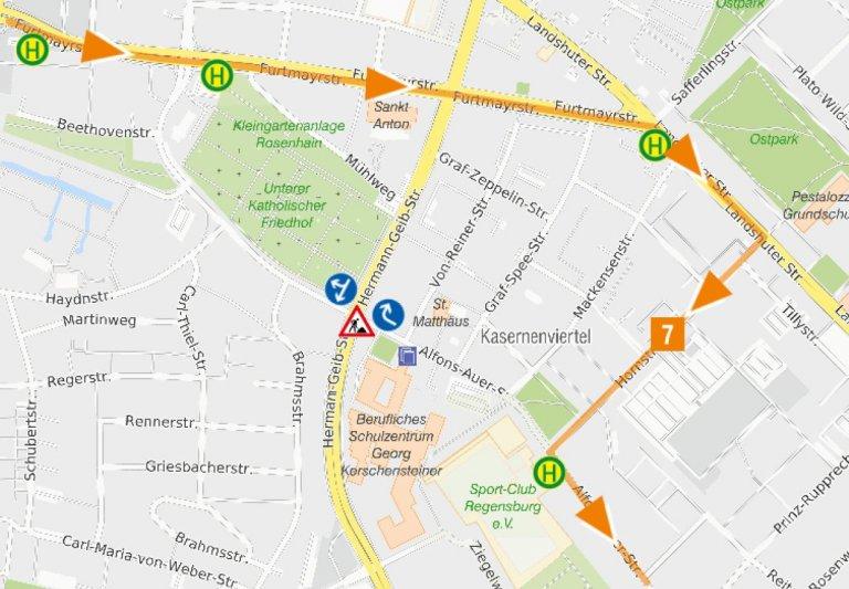 2020-06-02_bis_2020-06-12_Karte Uml Linie 7_Ri Burgweinting