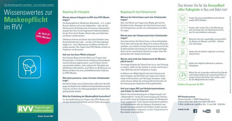 Hinweise zur FFP2-Maskenpflicht