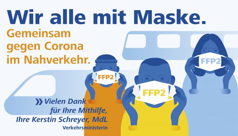 Wir alle mit Maske