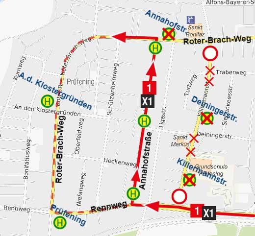 Sperrung-Killermannstraße-X1