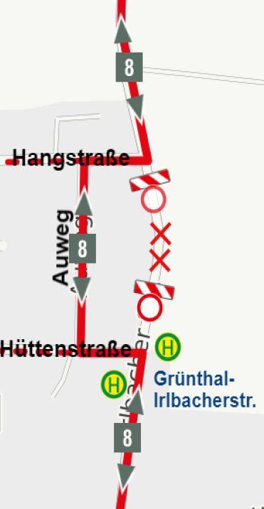 210726 Karte Uml Linie 8 Grünthal