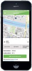 Bird-Scooter - Ansicht in der RVV-App