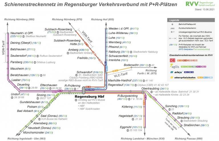 Schienennetz ab 13.06.2021