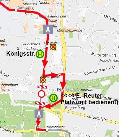 Sperrung Maximilianstraße