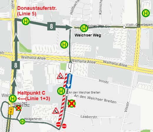Sperrung-Weichser-Weg-Linie-8