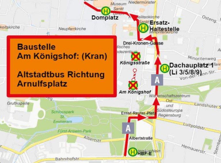 210915 Karte Uml Linie A Ri Arnulfsplatz